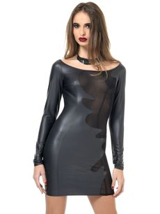 Sale - Wetlook Kleid, BRENDA 001