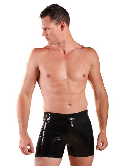 Latex Boxer Front Zipper Shorts  – Bild 2