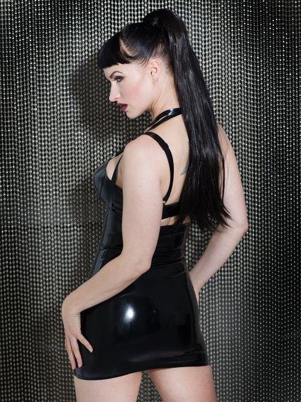 Devotion Exposure Latex Kleid schwarz – Bild 5