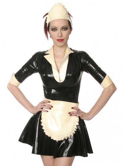 Latexdienstmädchen Kleid