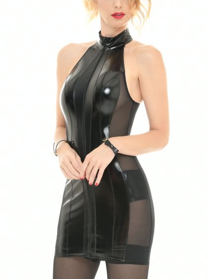 Sale - Lackkleid Minikleid Beatrice – Bild 2
