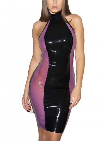 Black Ice Pancel - Latex Kleid