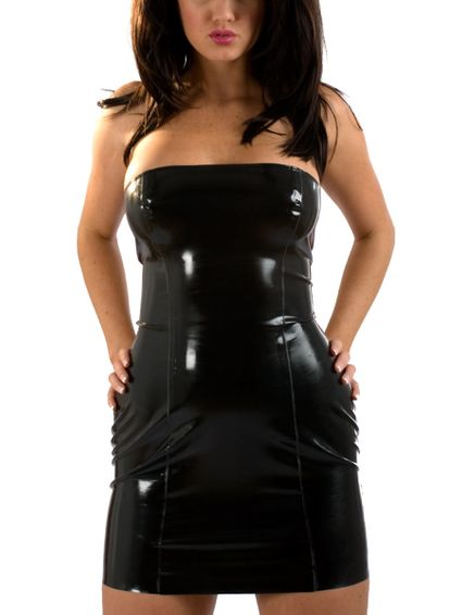 Latexkleid Black Spanky