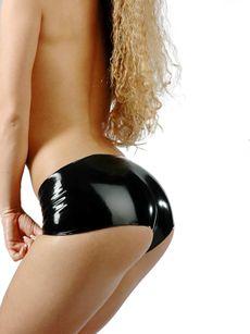Latex Hotpant - Schwarz 001