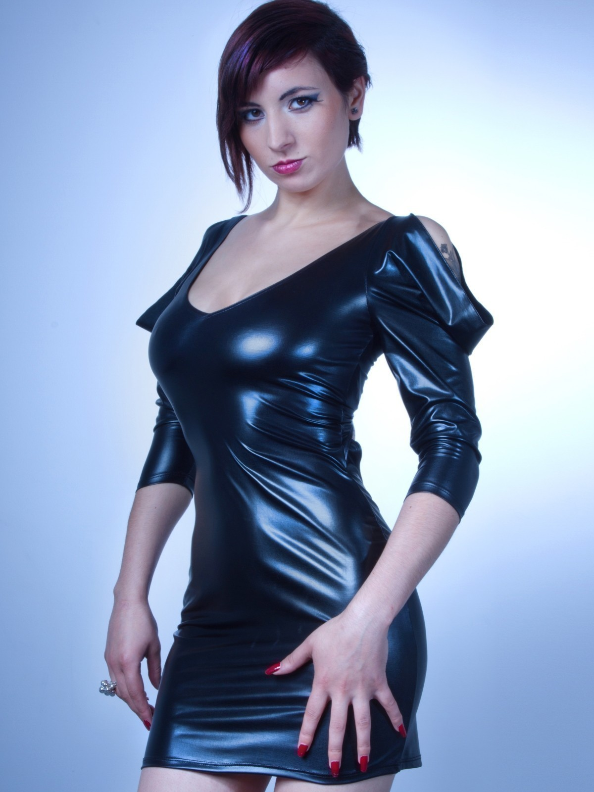 Les P´tites Folies de Catanzaro P72803 - Damen Wetlook Kleid - Hane ...