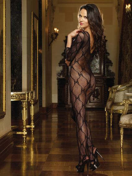 Bodystocking Catsuit - Bordeaux - One Size – Bild 3