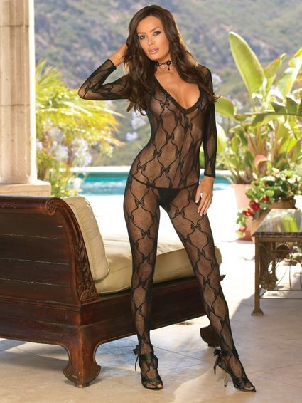 Bodystocking Catsuit - Bordeaux - One Size – Bild 1