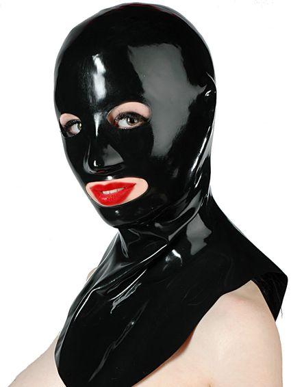 Latexmaske - offen