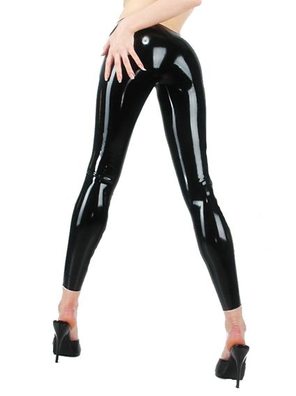 Latex Leggings - Schwarz – Bild 1