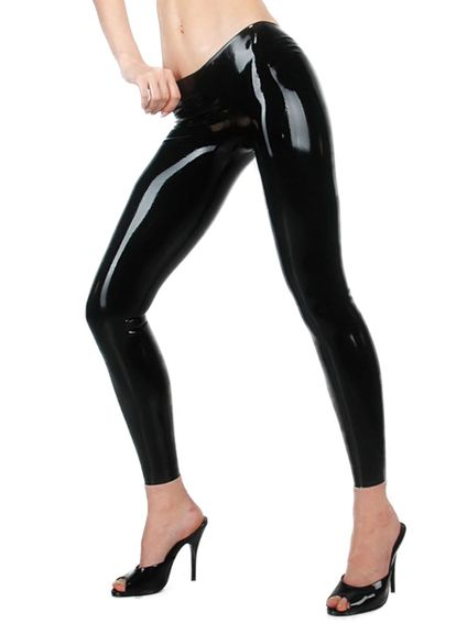 Latex Leggings - Schwarz – Bild 2
