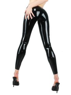 Latex Leggings - Schwarz 001