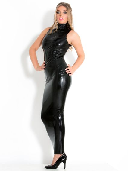 Latex Abendkleid – Bild 3