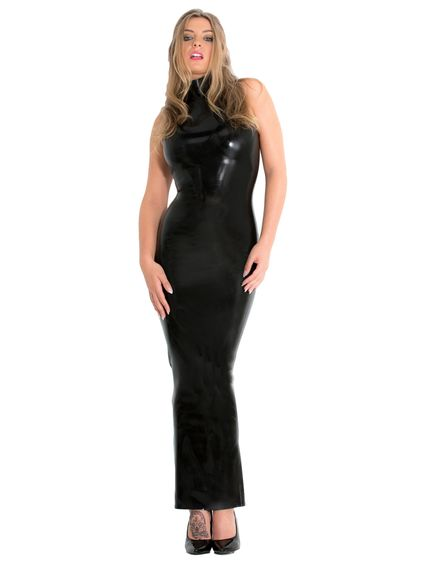 Latex Abendkleid – Bild 2