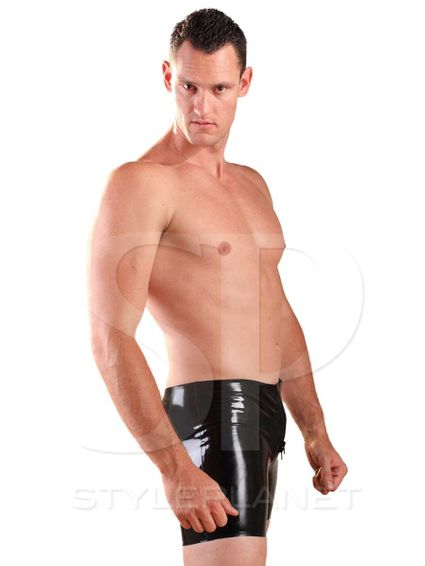 Latex Boxer Zipper Shorts  – Bild 4