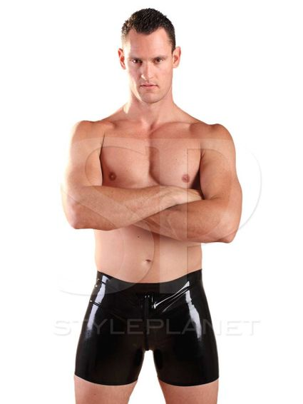 Latex Boxer Zipper Shorts  – Bild 2