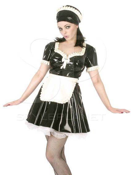 Latexdienstmädchen Kleid – Bild 1