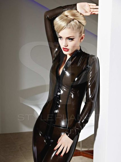 Latex Catsuit - Vertigo - Transparent Farben – Bild 5