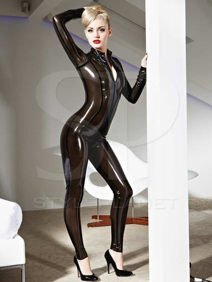 Latex Catsuit - Vertigo - Transparent Farben – Bild 3
