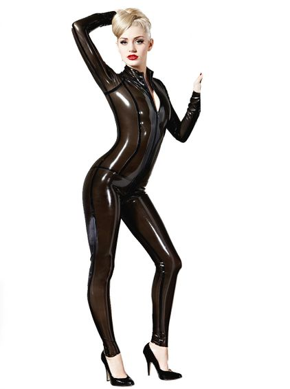Latex Catsuit - Vertigo - Transparent Farben