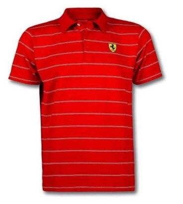 Ferrari Herren Polo Shirt Gr.M White Stripes gestreift – Bild 1