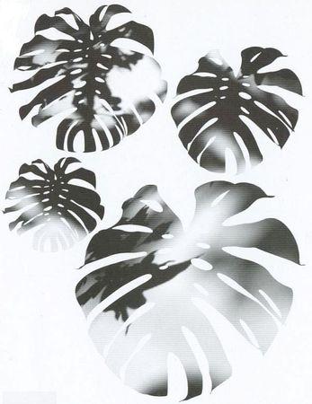 d-c-fix Spirit Flow Floral Fensterblatt  Fenestra Klebefolie Wandtattoo 350-0031 – Bild 1