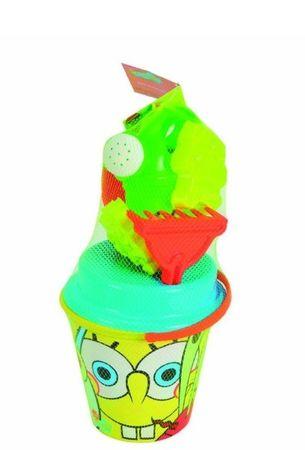 Simba Sponge Bob Sandkastenspielzeug Sand Schaufel Gießkanne 7 tlg.