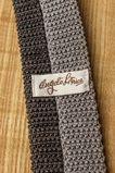 80er Jahre Strick Krawatte grau