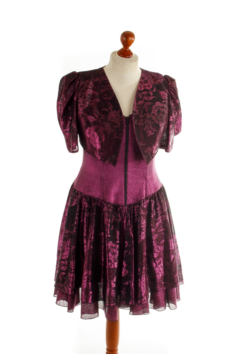 28b696d835874f Vintage Partykleid Cocktailkleid Kleid Abendkleid pink Glitzer ...
