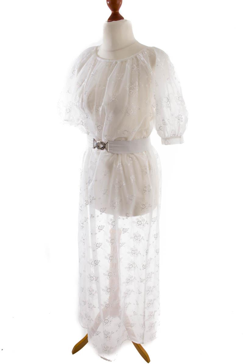 Vintage orig 60er 70er Negligee weiß Spitze Kleid ...