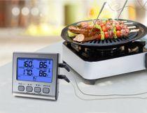 Digitales Lebensmittel-Thermometer mit Dual-Sonden 004