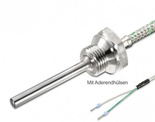 """Einschraubfühler 100mm mit G1/2"""" Gewinde bis 550°C - NiCr-Ni Typ K"""