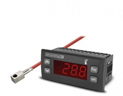 Elektronische Temperaturanzeige für PT100 inkl. Anlegefühler