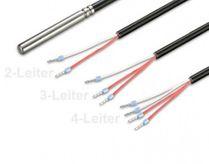 Kabelfühler 6 x 50mm, bis 105°C, PT100, 10.0 Meter, 2-Leiter  003