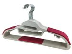 Variante Kleiderbügel Kunststoff mit Krawattenhalter Rot 001