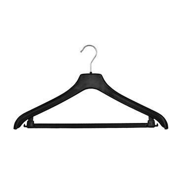 NF Jackenbügel Kunststoff Schwarz mit Steg 38 cm