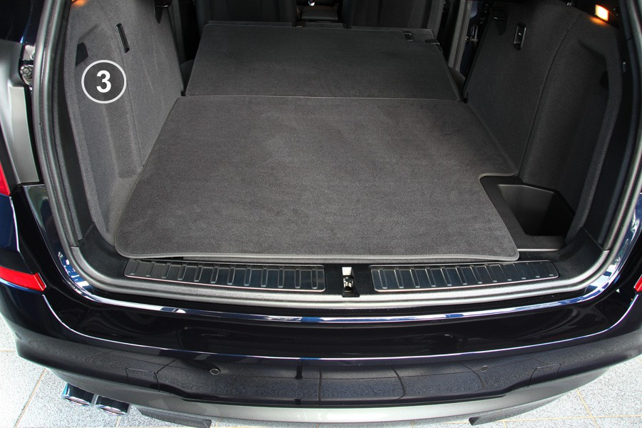 3 pi ces tapis de coffre pour bmw x3 f25 x 4 f26 ebay. Black Bedroom Furniture Sets. Home Design Ideas