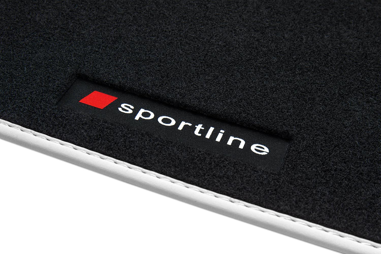 2010 Exclusive Line Fußmatten für Audi A1 8X Sportback Limo S-Line ab Bj