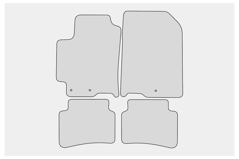Exclusive Design Fußmatten für Kia Rio 4 IV Bj 2017