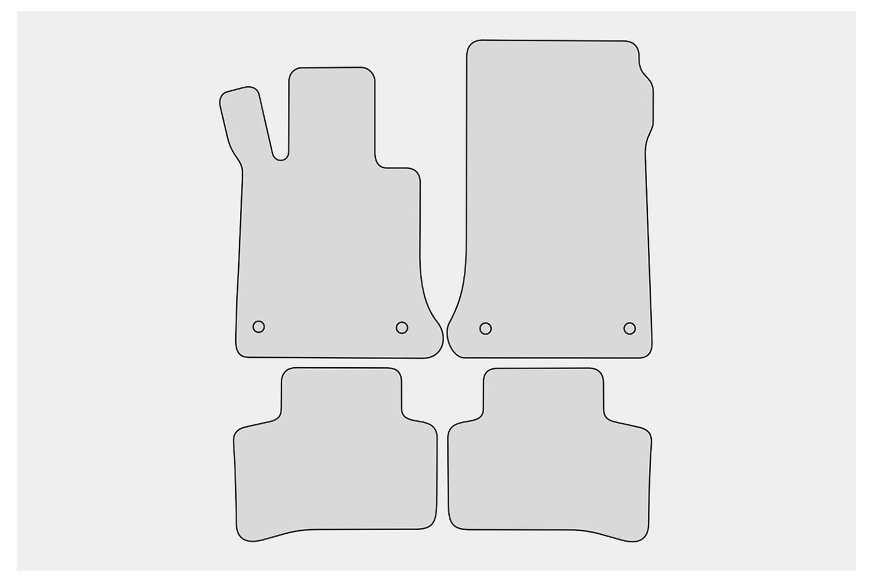 2008-2015 Exclusive-Sport Fußmatten für Mercedes GLK X204 Bj