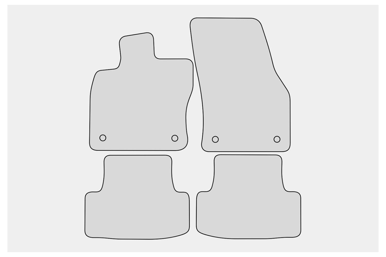 Ganzjahres Fußmatten für Seat Ateca 5FP FR Xcellence Style ab Bj 2016