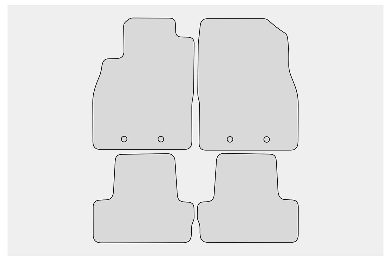 2012-2016 Allwetter Fußmatten für Opel Ampera Bj