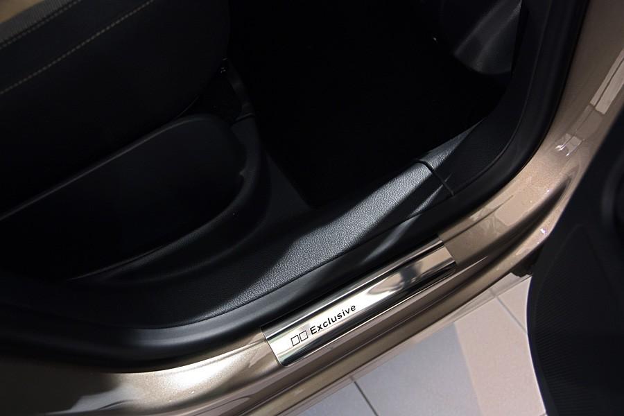 Pour VW Tiguan seuil intérieur v2a en acier inoxydable avec acier chrome inoxydable