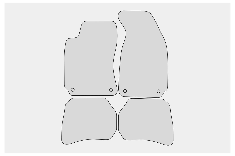 Premium Fußmatten für VW Passat B5 3B 3BG Variant Kombi Limo Bj 1996-2005