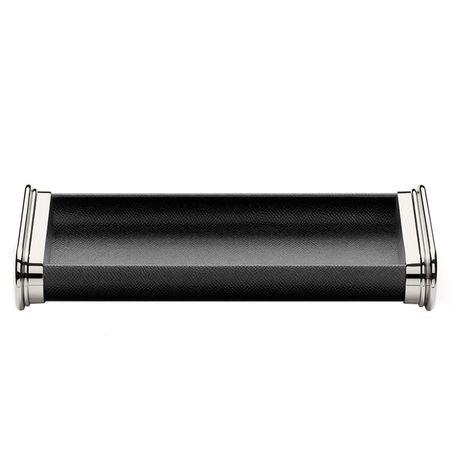 Graf von Faber-Castell Ablageschale mit Lederummantelung, schwarz