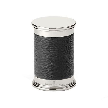 Graf von Faber-Castell Großer Bleistiftanspitzer mit Lederummantelung, schwarz