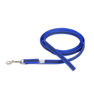K9 gummierte Sportleine blau 20mm / 2m ohne Schlaufe – Bild 1