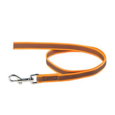 K9 gummierte Sportleine orange 20mm / 1m ohne Schlaufe – Bild 2