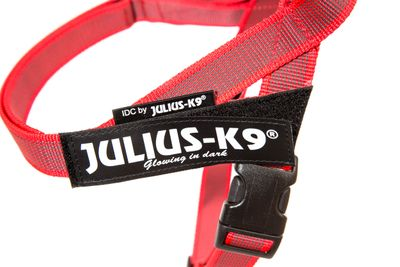 Julius K9 IDC Gurtbandgeschirr Color&Gray, Gr. Mini, rot – Bild 2