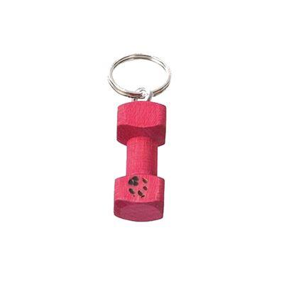 Schlüsselanhänger Apportierholz mit Pfote in Pink