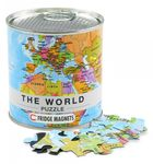 World puzzle magnets in premium tin can 002